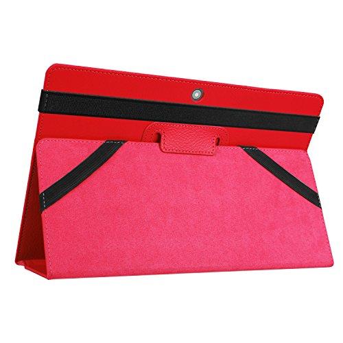 Kepuch Custer Hülle für Lenovo Miix 320,Smart PU-Leder Hüllen Schutzhülle Tasche Case Cover für Lenovo Miix 320 - Rot