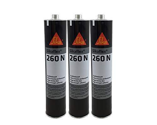 Sparset 3x Sikaflex 260N extrem starker Kraftklebstoff 300ml schwarz