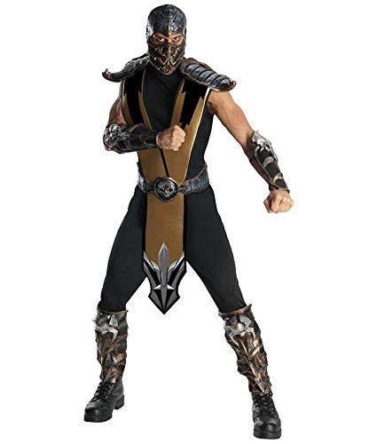 Generique - Mortal Kombat-Superhelden-Kostüm schwarz-Silber M / L