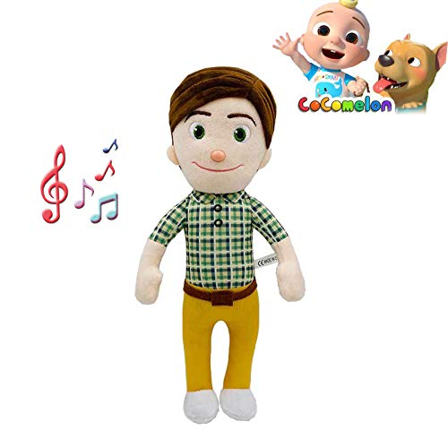 JJ Cocomelon Toys Doll, Cocomelon JJ Doll Sing Kids Toys para Cocomelon Bedtime JJ Music Doll Family Kid Gift Anime Plushie (Dad with Music)