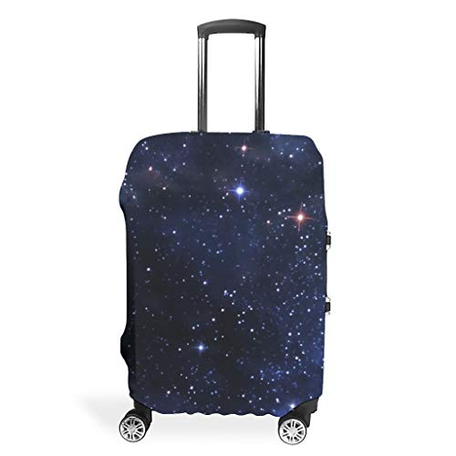 Travel Luggage Case Protector - Space Distinctive Suitcase Cover Multiple Sizes Suit Protective Luggage, White (White) - BTJC88-scc