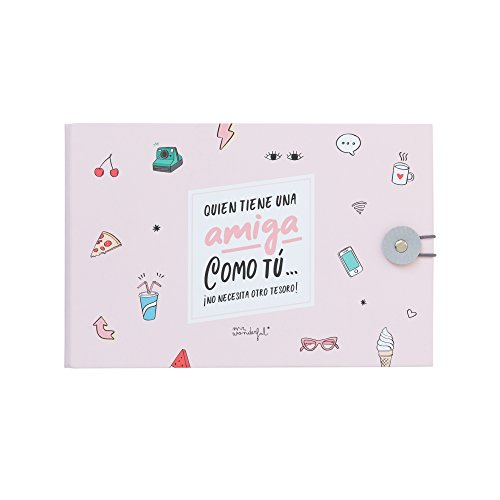 Mr. Wonderful Álbum de Fotos Amiga como tú… ¡no Necesita Otro Tesoro, Papel, Multicolor, 23 x 15 x 3,5 cm