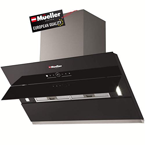 Mueller Deluxe 36' High Air Flow Modern Eurocentric Style Wall Mount Satin Finish & Black Tempered...