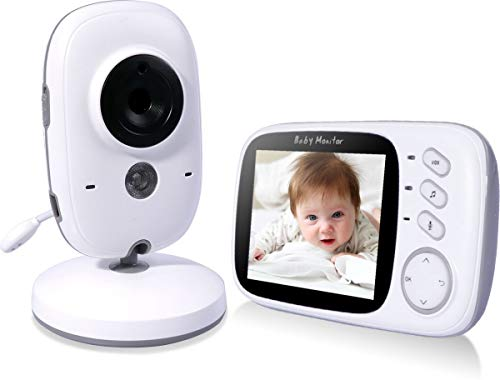 Premium babyfoon met camera | 3.2 inch video babyphone | Baby kleur monitor | Wit babyunit | Extra groot LCD scherm | Sterk Zendbereik | A-kwaliteit | Veilige verbinding |Terugspreken | Temperatuur | Slaapliedjes | Nachtzicht | Energiebesparing