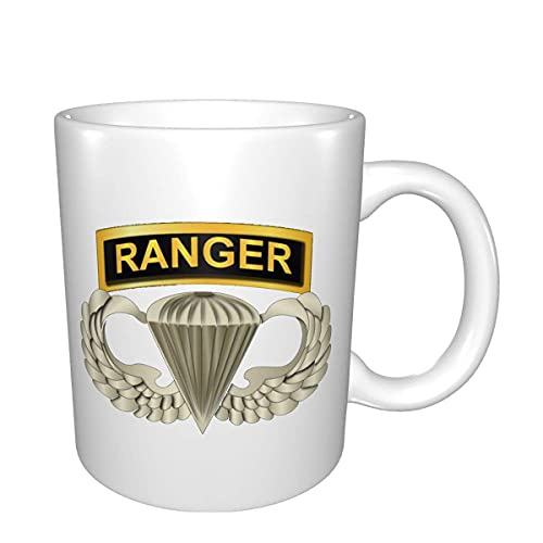 Airborne Badge Ranger Tab Mugs Home Office Taza de café adecuada para cereales de té y cacao
