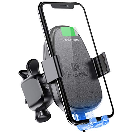 Automatic Clamping Wireless Car Charger Mount FLOVEME Touch Sensitive 10W Fast Charge Wireless Car Charger Air Vent Dashboard Compatible for iPhone Xs Max/XR/X Samsung S10/S8/S9/Note 9 GooglePixel3