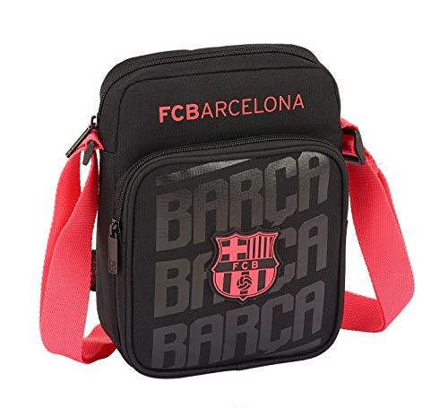 SAFTA - F.C. Barcelona Oficial Bandolera con Bolsillo Exterior