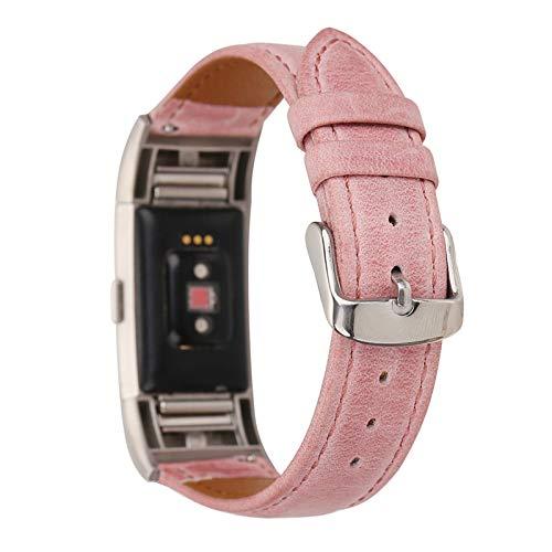 XIALEY Correa De Repuesto Compatible con Fitbit Charge 2, Correas De Cuero para Mujer Hombre Pulsera De Reloj Reemplazo Banda Ajustable Brazalete Accesorios para Charge 2,F