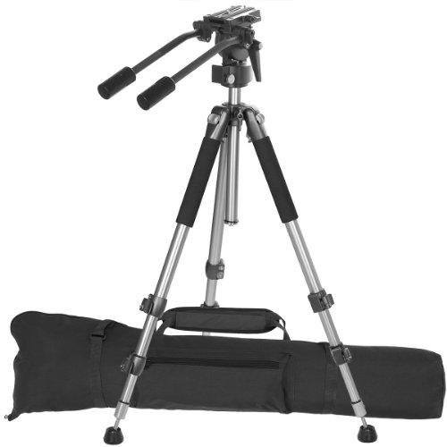 Ravelli AVT Treppiede Professionale per Videocamera da cm 170, con Testa per Riprese Video a Movimento Fluido e Resistenza Costante.