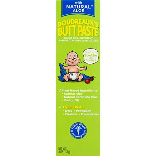 Boudreaux#039s Butt Paste Diaper Rash Ointment With Natural Aloe 4 Oz
