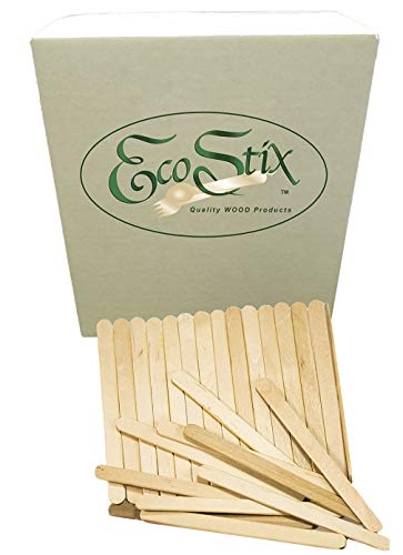 "Eco Craft Stix 4-1/2"" Wooden Craft Grade Ice Cream Stick - Pack of 1000 Count"