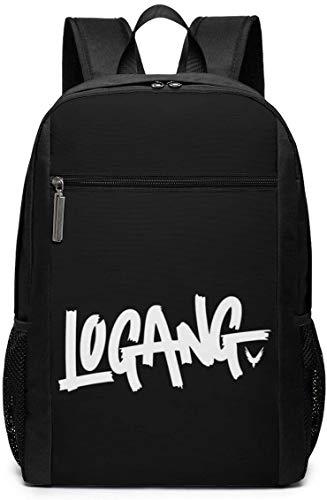 BAGGNICE Lo-gan Paul Log-a-ng School Backpack for Girls Boys Kids Teens, Unisex Lightweight Backpack for Men Women College Schoolbag Laptop Backpack