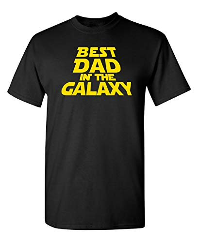 Camiseta divertida con el mejor papá en la galaxia Sarcasm Idea, negro 1, Large