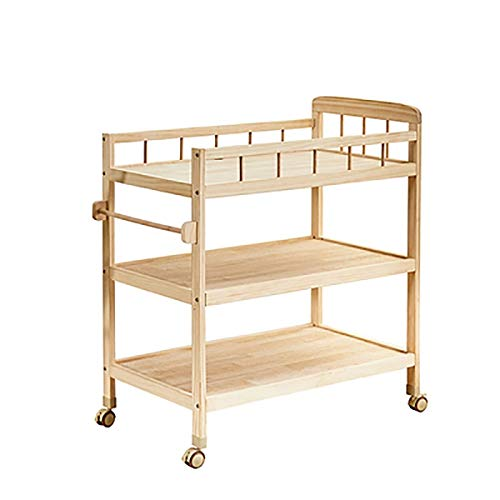 Baby Table à langer Table à langer Table à langer, station du nouveau-né bain, Portable Dresser enfant en bas âge 0-3 ans - Couleur Bois - 52x82x100cm - Charge 50 kg