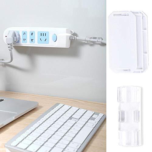 Soporte de tira de alimentación, sin perforación, enchufe mágico, para montaje en pared, soporte de enchufe adhesivo, router WiFi, mando a distancia
