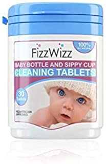 Fizzwizz Baby Bottle & Sippy Cup Cleaning Tablets 30 Tablets/On The Go/All- Natural
