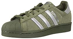 Adidas Men's Superstar  Green Night Cargo Color, Shell Toe - Front View
