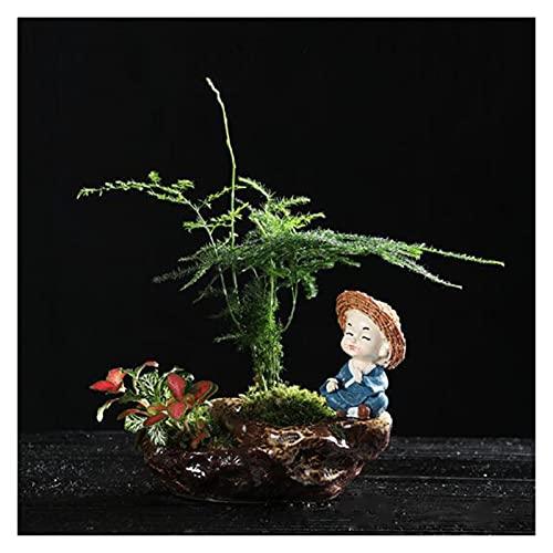 HUAYU Pentola di Fiori carnosi Ceramica Creativo fioriera Flowerpot Flowerpot Piccolo Monaco Vaso Ufficio Desktop Ornamenti Decorazione Giardino Domestico (Color : Lavender)