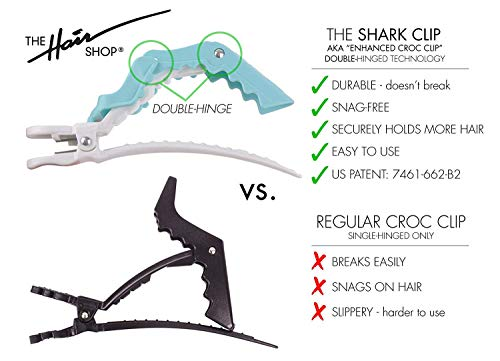 The Hair Shop Shark Clip | Enhanced Croc Crocodile Alligator Grip Clip (2nd Generation) | Sectioning Tool for Women | US…