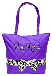 Quilted Dance Tote Zebra Trim 3 Colors