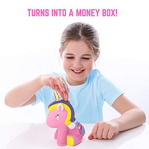 GirlZone: Paint Your Own Unicorn Money Box for Girls, Arts