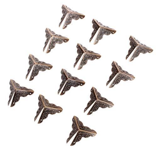 Die Halterung ist auf rechten Winkeln und Ecken befestigt 12st Metall Dekorative Schmuckschatulle Kommode aus Holz Weinkiste Kantenschutzecken Eisen-Abdeckungs-Schutz mit Nägeln 30mm Antique