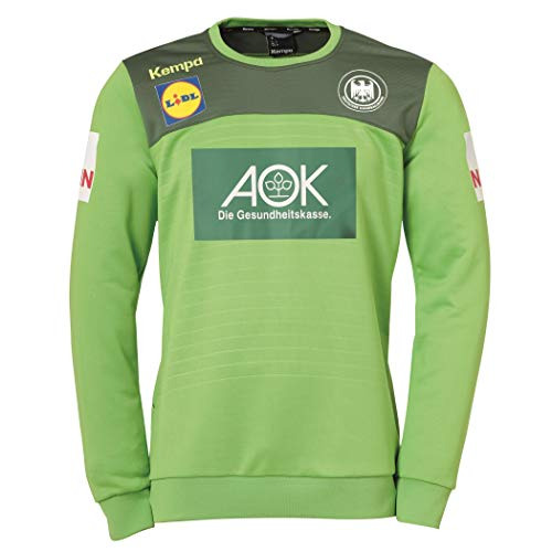 Kempa Herren Emotion 2.0 Training Top Longsleeve, Hope grün/Dragon grün, XXL