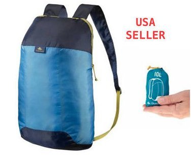 Backpack blue 10 Liters Ultra-Compact for people looking for an extra backpack Quechua ultra light (1.7oz)