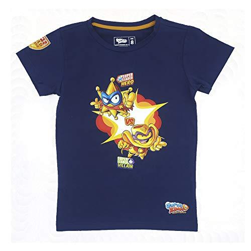 SuperZings Camiseta, Goldstars Azul, 8 para Niños