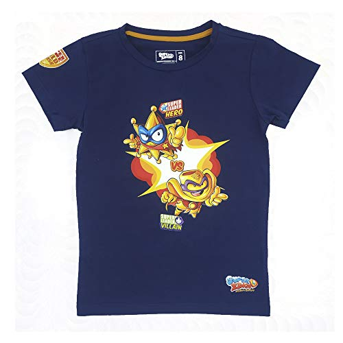 SuperZings Camiseta, Goldstars Azul, 4 para Niños