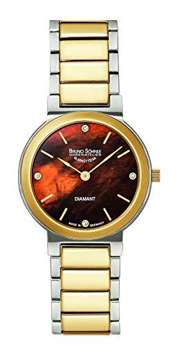 Bruno Söhnle Damen Analog Quarz Uhr mit Edelstahl Armband 17-23108-492