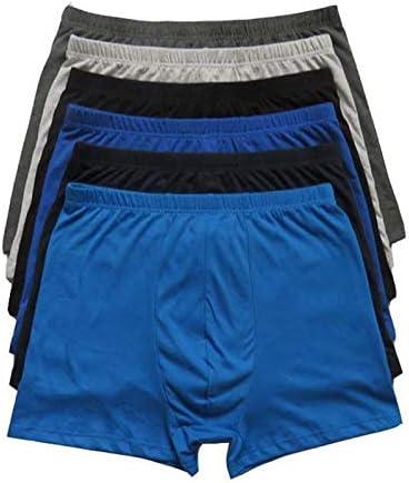 JIUMENG 6Pcs Men's Boxer Briefs Underwear Men's Boxer Briefs Comfortable Underwear