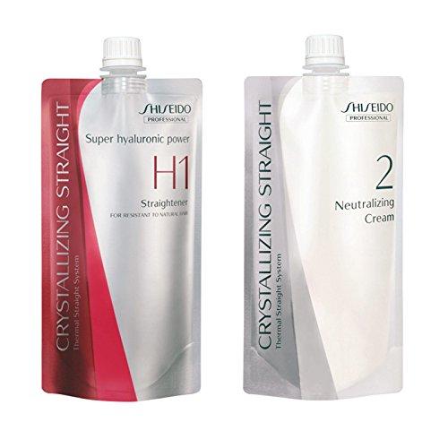 Shiseido - Lisseur H1 et crème de soin, pour cheveux rebelles à naturels - 2x400ml