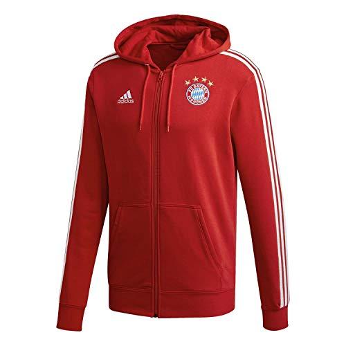 adidas Herren FC Bayern 3S Full-Zip Hoodie Kapuzenjacke, Fcbtru/White, L