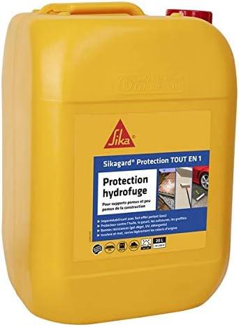 Sikagard Protection Tout En 1 Protection Hydrofuge Facade Mur Toiture Et Sol Pour Materiaux Poreux Et Peu Poreux Interieur Et Exterieur 20l Amazon Fr Bricolage