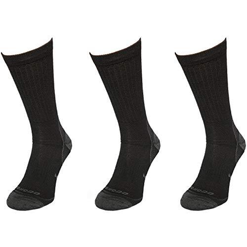 Comodo - Chaussettes de trekking homme & femme avec laine mérinos | 3 paires de chaussettes de randonnée pour été & hiver | Chaussettes en laine mérinos pour la randonnée, l'alpinisme, le trekking, la marche nordique | Chaussettes d'extérieur TRE6 g 43-46 noir