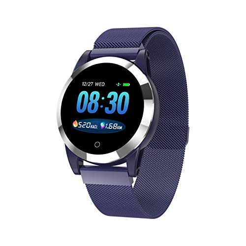 MMFFYZ Reloj Inteligente Monitorización De La Presión Arterial Ritmo Cardíaco Reloj Inteligente Llamada Bluetooth Rastreador De Ejercicios, Reloj Inteligente A Prueba De Agua(Color:C)