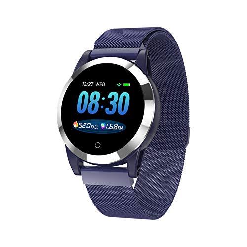 WEINANA Smart Watch PPG Herzfrequenz Fitness Tracker Blutdruckuhr IP68 Wasserdichtes Smart Armband(Color:C.)