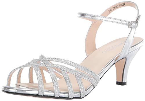 Touch Ups womens Amara Heeled Sandal, Silver, 8.5 US