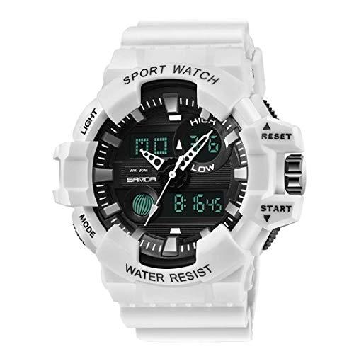 Uomo Orologi, L'ananas Gli Sport Multifunzione Militare Truppe Speciali GUIDATO Orologi da Polso Men Watches Wristwatches (Bianca)