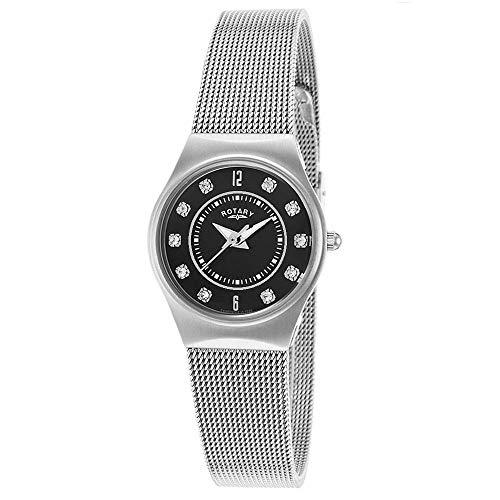 Rotary Damen Uhr Analog Quarz Mit Edelstahl LB00033/19
