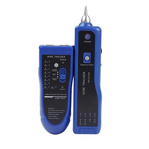 Akozon Wire Tracker Kabelsender Handheld Rapid Kabel Empfänger LAN Netzwerkkabel Detektor Tester Line Finder Wire Tracker Tool 8-Core-Netzwerkleitungssuchfunktion Leitungsstatus-Testfunktion(Blau)