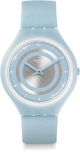 Swatch Orologio Digitale Quarzo Unisex con Cinturino in Silicone SVOS100