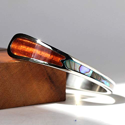 Eternity Koa Wood Cuff Bracelet (Medium)