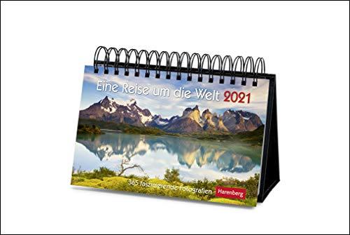 Eine Reise um die Welt Premiumkalender 2021 - Tagesabreißkalender zum Aufstellen - Tischkalender mit hochwertigen Farbfotografien - in Geschenkbox - Format 23 x 17 cm: 365 faszinierende Fotografien