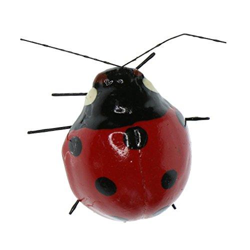 LOVIVER Animaux Aimant en Clay Pot D'insectes Miniature Figurine - Coccinelle