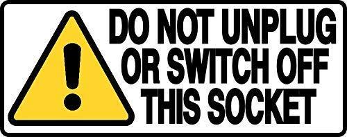 LynnYo22 Placa de Metal con Texto en inglés Do Not Unplug Or...