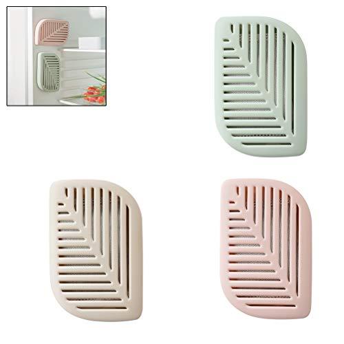 Macabolo 3 stuks vellen vorm koelkast koelkast lucht frisse box Purifier Charcoal deodorizer absorberende verfrisser met zuignap