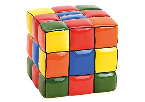 MC Trend Hucha con forma de cubo mágico, de cerámica, se puede cerrar, diseño de los años 80