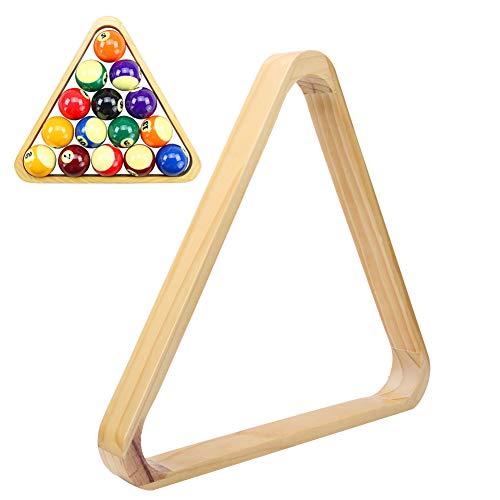 Nicoone Soporte de madera para pelotas de billar, marco triangular de rombos de billar, para accesorios deportivos